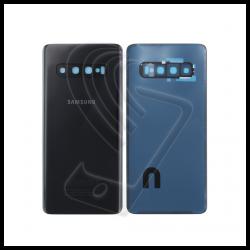 VETRO POSTERIORE SCOCCA + VETRINO Samsung Galaxy S10 Plus G975F Nero Prism Black