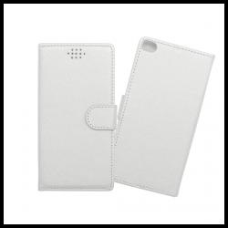 Custodia a libro con chiusura magnetica flip per Huawei P8 bianco