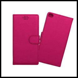 Custodia a libro con chiusura magnetica flip per Huawei P8 fucsia