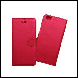 Custodia a libro con chiusura magnetica flip per Huawei P8 lite rosso
