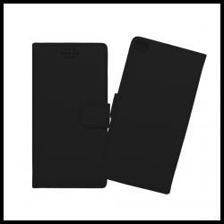 Custodia a libro con chiusura magnetica flip per Huawei P8 nero