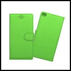Custodia a libro con chiusura magnetica flip per Huawei P8 verde