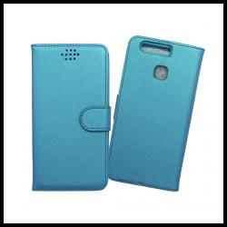 Custodia a libro con chiusura magnetica flip per Huawei P9 azzurro
