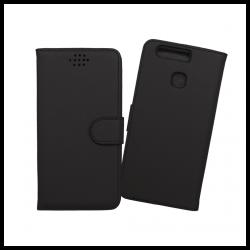 Custodia a libro con chiusura magnetica flip per Huawei P9 nero