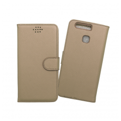 Custodia a libro con chiusura magnetica flip per Huawei P9 oro