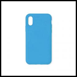 Cover morbida in silicone per Apple iPhone X e iPhone XS azzurro