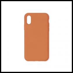 Cover morbida in silicone per Apple iPhone X e iPhone XS colore arancione
