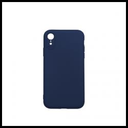 Cover morbida in silicone per Apple iPhone XR con 3D camera blu