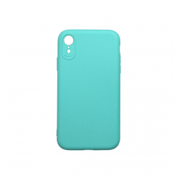 Cover morbida in silicone per Apple iPhone XR con 3D camera verde acqua
