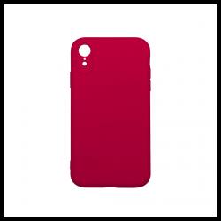 Cover morbida in silicone per Apple iPhone XR con 3D camera fucsia