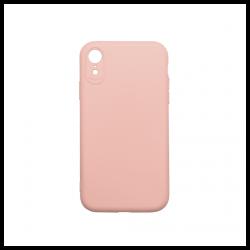 Cover morbida in silicone per Apple iPhone XR con 3D camera rosa sabbia