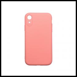 Cover morbida in silicone per Apple iPhone XR con 3D camera rosa