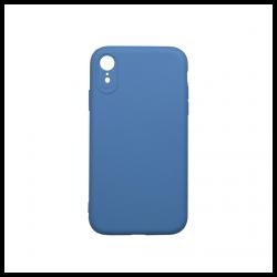 Cover morbida in silicone per Apple iPhone XR con 3D camera blu chiaro