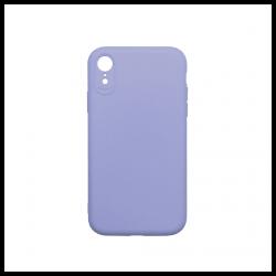 Cover morbida in silicone per Apple iPhone XR con 3D camera viola