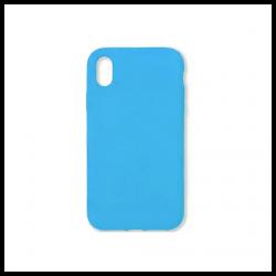 Cover morbida in silicone per Apple iPhone XR azzurro