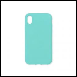 Cover morbida in silicone per Apple iPhone XR verde acqua