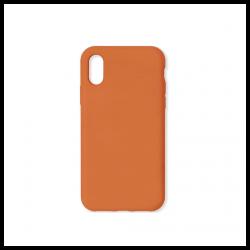 Cover morbida in silicone per Apple iPhone XS Max arancione