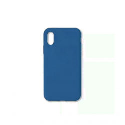 Cover morbida in silicone per Apple iPhone XS Max blu chiaro