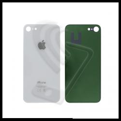 Vetro posteriore scocca big hole per iPhone 8 bianco