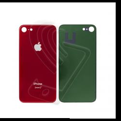 Vetro posteriore scocca rosso per iPhone 8 big hole