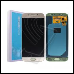 DISPLAY LCD Samsung Galaxy J5 2017 J530 SM-J530F OLED ORIGINALE SERVICE PACK Colore Oro (Gold)