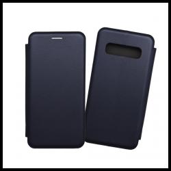 Custodia a libro con chiusura magnetica flip per Samsung Galaxy S10 blu