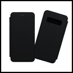 Custodia a libro con chiusura magnetica flip per Samsung Galaxy S10 nero
