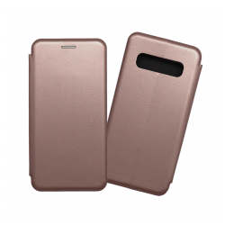 Custodia a libro con chiusura magnetica flip per Samsung Galaxy S10 oro rosa