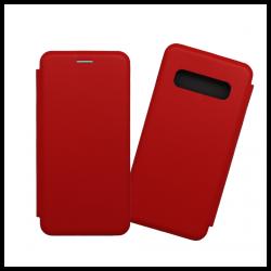 Custodia a libro con chiusura magnetica flip per Samsung Galaxy S10 rosso