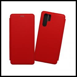 Custodia a libro realizzata in pelle con copertina magnetica per Huawei P30 Pro rosso