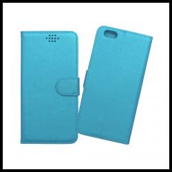 Custodia a libro con chiusura magnetica flip per Apple iPhone 6 Plus / 6S Plus azzurro