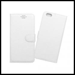 Custodia a libro con chiusura magnetica flip per Apple iPhone 6 Plus / 6S Plus bianco