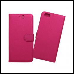 Custodia a libro con chiusura magnetica flip per Apple iPhone 6 Plus / 6S Plus fucsia