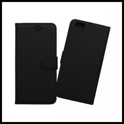 Custodia a libro con chiusura magnetica flip per Apple iPhone 6 Plus / 6S Plus nero