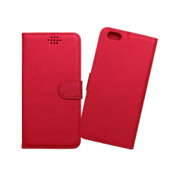 Custodia a libro con chiusura magnetica flip per Apple iPhone 6 Plus / 6S Plus rosso