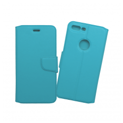 Custodia a libro con chiusura magnetica flip per Apple iPhone 7 Plus azzurro