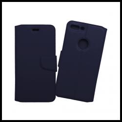 Custodia a libro con chiusura magnetica flip per Apple iPhone 7 Plus blu notte