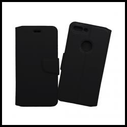 Custodia a libro con chiusura magnetica flip per Apple iPhone 7 Plus nero