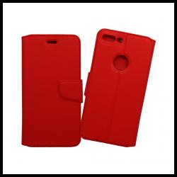 Custodia a libro con chiusura magnetica flip per Apple iPhone 7 Plus rosso
