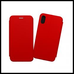 Custodia a libro realizzata in ecopelle con copertina magnetica per Apple iPhone XS Max rosso