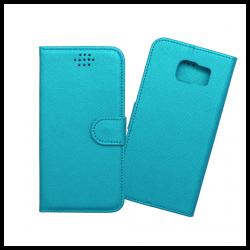 Custodia a libro con chiusura magnetica flip per Samsung Galaxy S6 azzurro