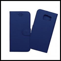 Custodia a libro con chiusura magnetica flip per Samsung Galaxy S6 edge blu