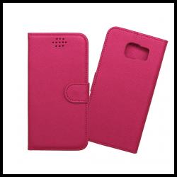 Custodia a libro con chiusura magnetica flip per Samsung Galaxy S6 fucsia