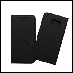 Custodia a libro con chiusura magnetica flip per Samsung Galaxy S6 edge nero