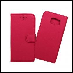 Custodia a libro con chiusura magnetica flip per Samsung Galaxy S6 edge rosso