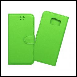 Custodia a libro con chiusura magnetica flip per Samsung Galaxy S6 edge verde