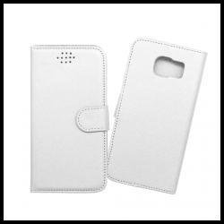 Custodia a libro con chiusura magnetica flip per Samsung Galaxy S6 bianco