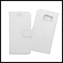 Custodia a libro con chiusura magnetica flip per Samsung Galaxy S7 bianco