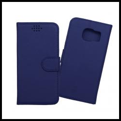 Custodia a libro con chiusura magnetica flip per Samsung Galaxy S7 blu