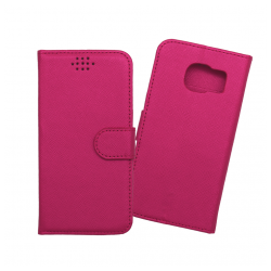 Custodia a libro con chiusura magnetica flip per Samsung Galaxy S7 fucsia